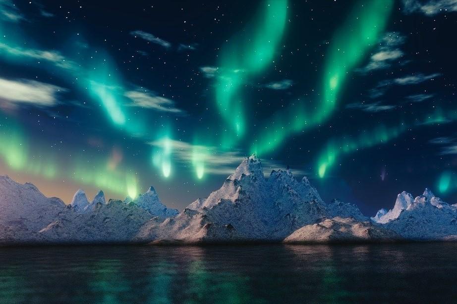 Невероятная феерия света – полярное сияние